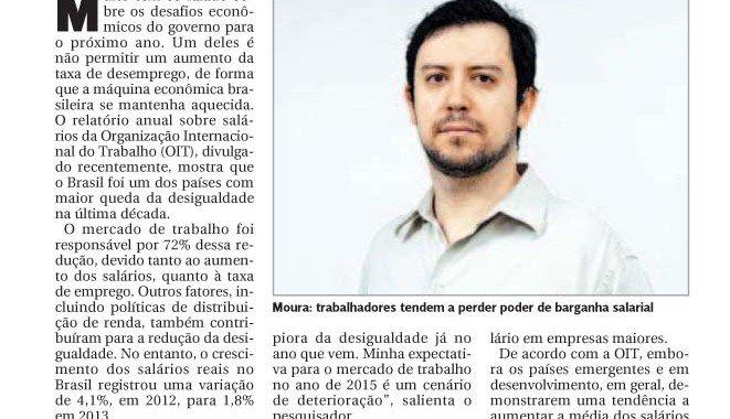 Gazeta De Piracicaba – Especialistas Preveem Remuneração Menor Em 2015