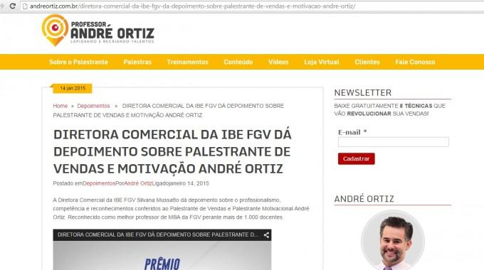 Diretora Comercial IBE Conveniada FGV Parabeniza Prof André Ortiz