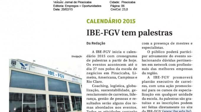 Jornal De Piracicaba Divulga Palestras Na IBE Conveniada FGV